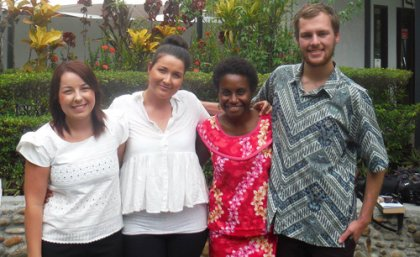 The Meri Toksave team in Papua New Guinea