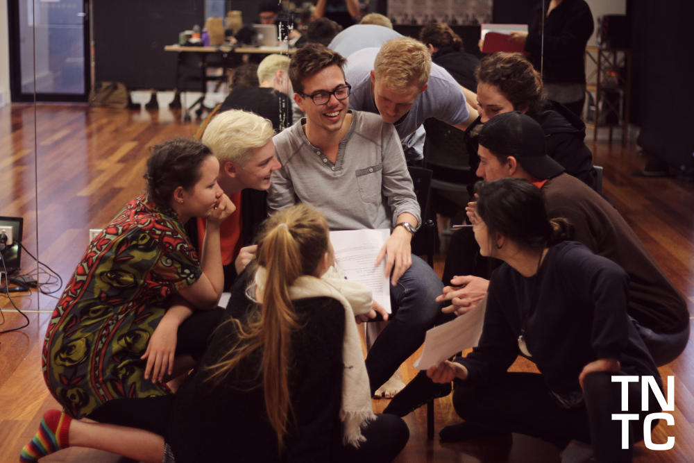 'Witchery' rehearsals (August 2014), photography by Anissa Roberts, featuring Gwilym Temple, Nicholas Prior, Hayley Mcallister, Alex Carlton-Thomas and members of the ensemble.
